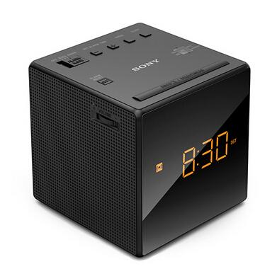索尼sony icf-c1 闹钟收音机 黑色