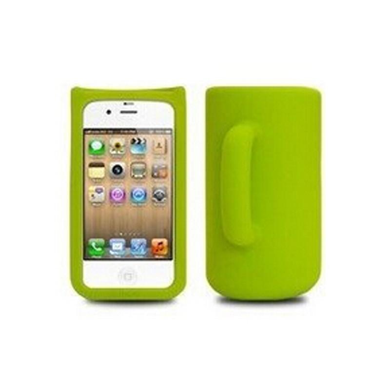 创意杯子型 苹果4手机套绿色