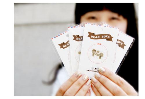 【韩国进口可爱防辐射贴纸|24k镀金贴|手机电脑贴纸