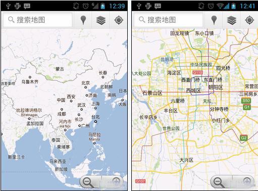 谷歌地图界面